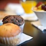 Breakfast muffins in patios de San Telmo