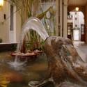 Fuente de rana de Patios de San Telmo, en uno de los patios del conventillo